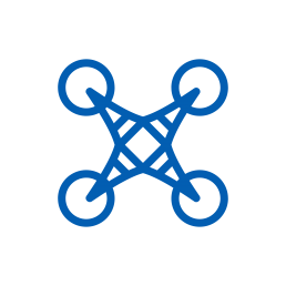 future drone outlook icon blue